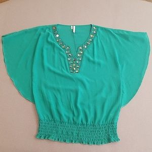 Maurices studio y teal/green top
